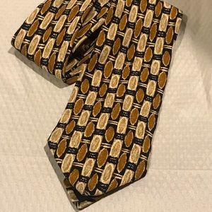 ERMENEGILDO ZEGNA Retro Pattern Silk Tie